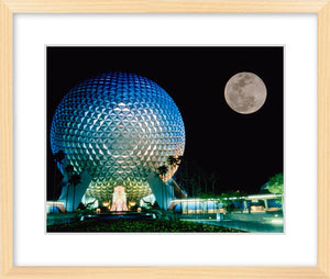 """Spaceship Earth and the Moon"" from Disney Photo Archives"