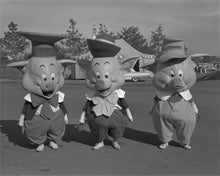 "Load image into Gallery viewer, ""Three Little Pigs"" from Disney Photo Archives"