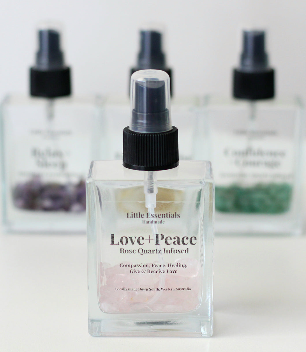 Love and Peace rose Quartz infused spray mist