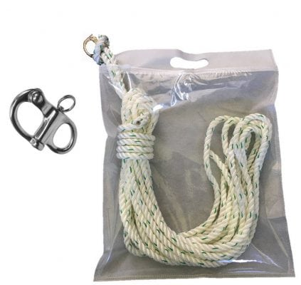 Nylon Dockline with Snap Hook 10mm x 10m