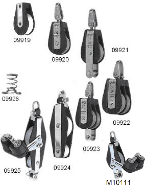 Pulley Block V Range for up to 12mm Rope (9 styles)