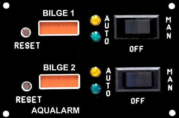Twin Bilge Pump Switch Panel with Counter