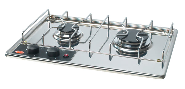 Eno 2 Burner LPG Hob Top Stainless Steel