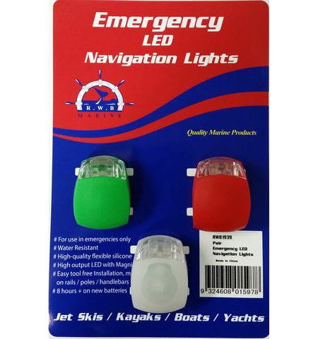 navigation lights with batteries for emergencies