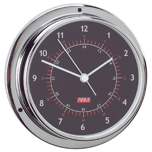 95mm Chrome Plated Brass Clock