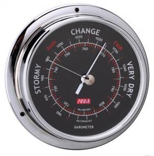 75mm Barometer Chrome Plated