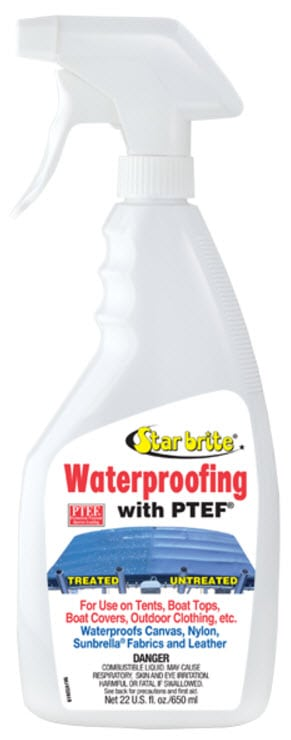 Waterproofing With PTEF (for sail and canvas)