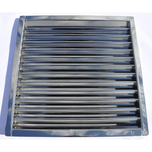 Vent Fan Louvre  450 x 452 mm solid s/s