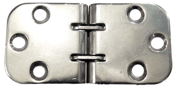 Hinge Double Joint 80 x 40 Stainless Steel pressed