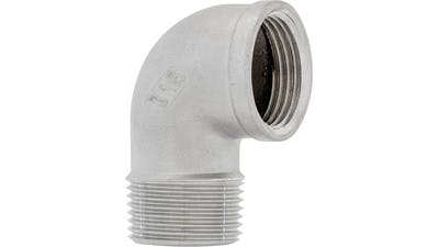 Elbow stainless steel threaded to bsp sizes, female - male