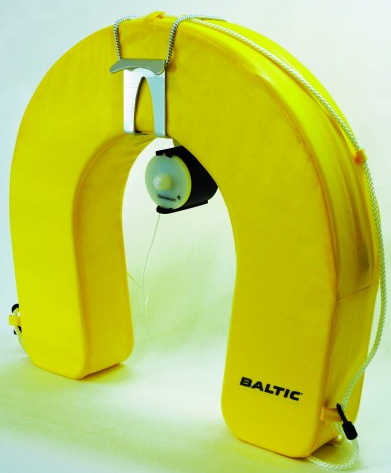 Baltic Horseshoe Lifebuoy Bracket with Light