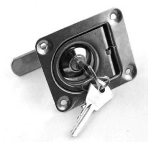 Flush Pull Stainless Steel with Lock