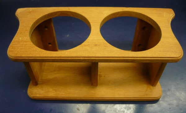2 Glass Rack Teak