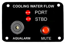 Aqualarm COOLING WATER FLOW PANEL, TWIN, 12V
