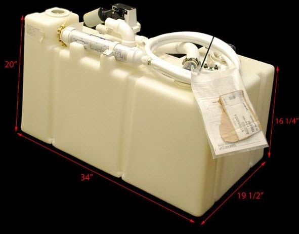 Sealand 40Gal (151L) holding tank with pump 24v