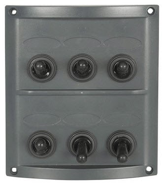 6 Switch Panel 12v with inline fuses