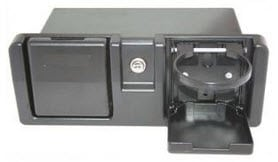 Glove Box with Cup Holders, Black or White