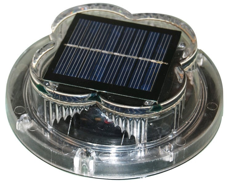 LED solar dock light