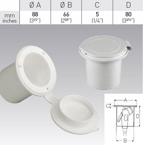 Shower box with cap - Round
