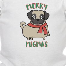 Load image into Gallery viewer, Merry Pugmas Pug Baby White Bodysuit