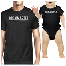 Load image into Gallery viewer, Brewmaster Homebrewed Dad and Baby Matching Black Shirts