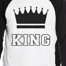 Load image into Gallery viewer, King And Queen Matching Couples Baseball Shirts Anniversary Gifts