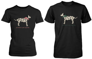 Dalmatian Dog Print Matching Couple Shirts (Set)
