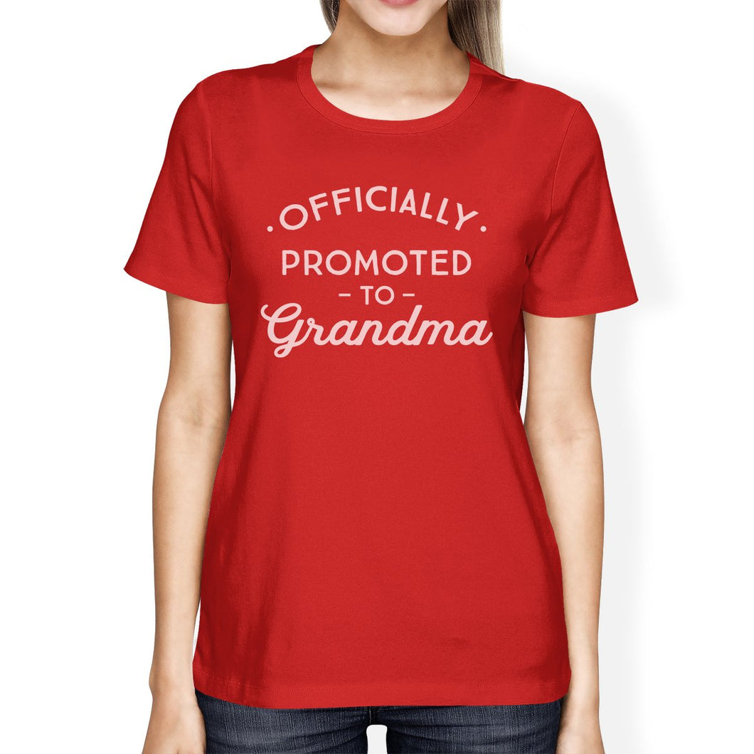 Officially Promoted To Grandma Womens Red Shirt