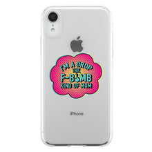 Load image into Gallery viewer, F-Bomb Mom Clear Phone Case Best Birthday Gift For Mom Jelly Cover