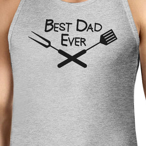 Best Bbq Dad Mens Grey Funny Design Graphic Tanks Unique Dad Gifts