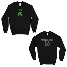 Load image into Gallery viewer, Shenanigans BFF Matching Sweatshirts Funny St Patrick's Day Gift
