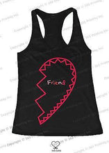 Load image into Gallery viewer, BFF Tank Tops Best Friend Matching Hearts Matching Shirts for Best Friends