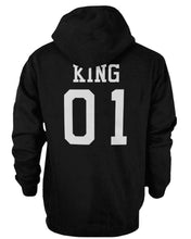 Load image into Gallery viewer, King 01 and Queen 01 Back Print Couple Matching Hoodies Cute Outfit