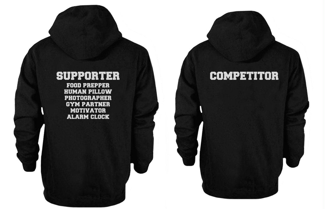 Supporter and Competitor Cute Couple Hoodies Funny Matching Outfit
