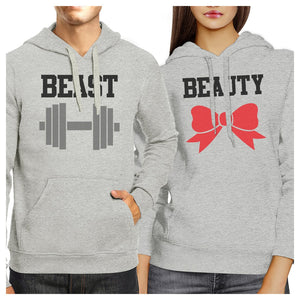 Beast And Beauty Matching Hoodies Pullover Funny Couples Gifts