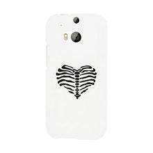 Load image into Gallery viewer, Skeleton Heart White Phone Case