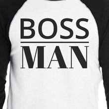 Load image into Gallery viewer, Boss Family Mens Black And White BaseBall Shirt