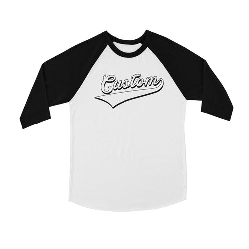 White College Swoosh Fantastic Kids Personalized Baseball Shirt