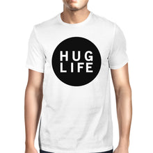 Load image into Gallery viewer, Hug Life Men's White T-shirt Cute Design Round-Neck Shirt