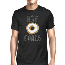 Load image into Gallery viewer, Bae Goals Men's Black T-shirt Funny Gift Ideas For Valentine's Day