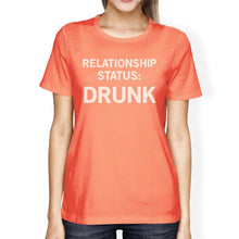 Load image into Gallery viewer, Relationship Status Peach Round Neck Cute Graphic Shirt For Her