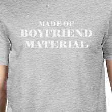 Load image into Gallery viewer, Boyfriend Material Mens Grey Unique Design Graphic T-Shirt Crewneck