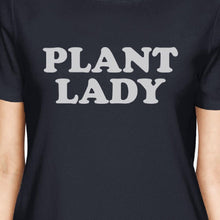 Load image into Gallery viewer, Inc Plant Lady Women's Navy Cotton Cute Design T Shirt Plant Lover