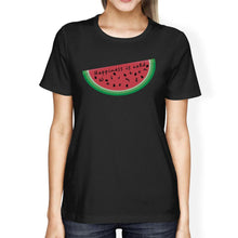Load image into Gallery viewer, Happiness Is Cold Watermelon Womens Summer Cotton Shirt Crewneck