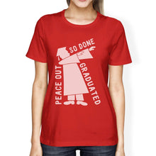 Load image into Gallery viewer, Graduated Dab Dance Womens Red Shirt