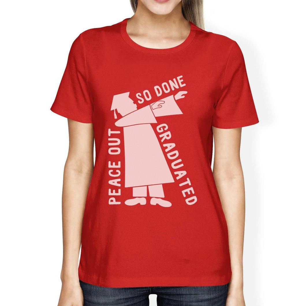 Graduated Dab Dance Womens Red Shirt