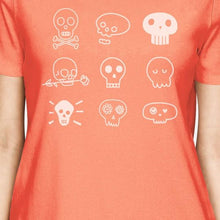 Load image into Gallery viewer, Skulls Womens Peach Shirt