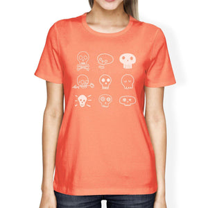 Skulls Womens Peach Shirt