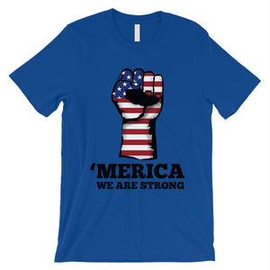 Merica We Strong T-Shirt Mens Veterans 4th July Shirt Army Dad Gift