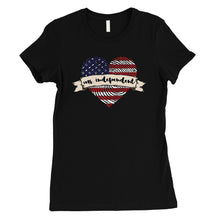 Load image into Gallery viewer, Ms Independent T-Shirt Womens Short Sleeve Round Neck July 4th Tee
